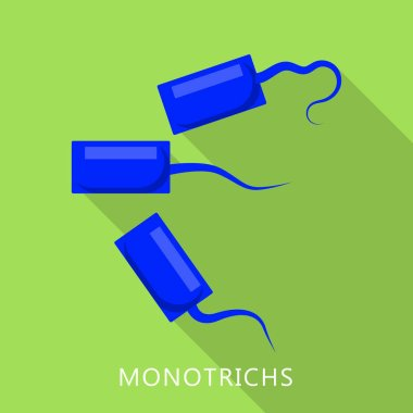 Monotrichs icon, flat style