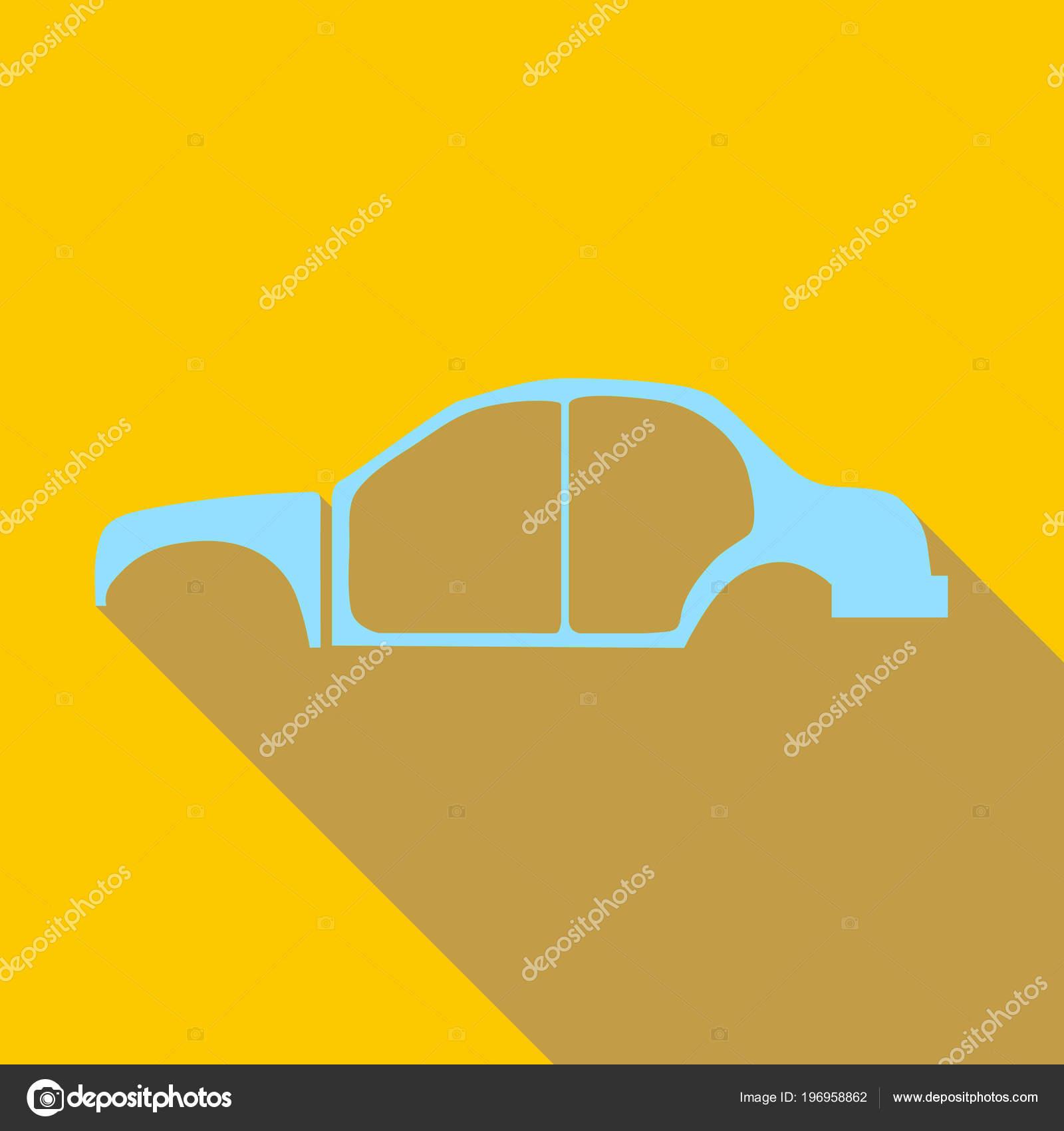 Auto-Rahmen-Symbol, flachen Stil — Stockvektor © ylivdesign #196958862