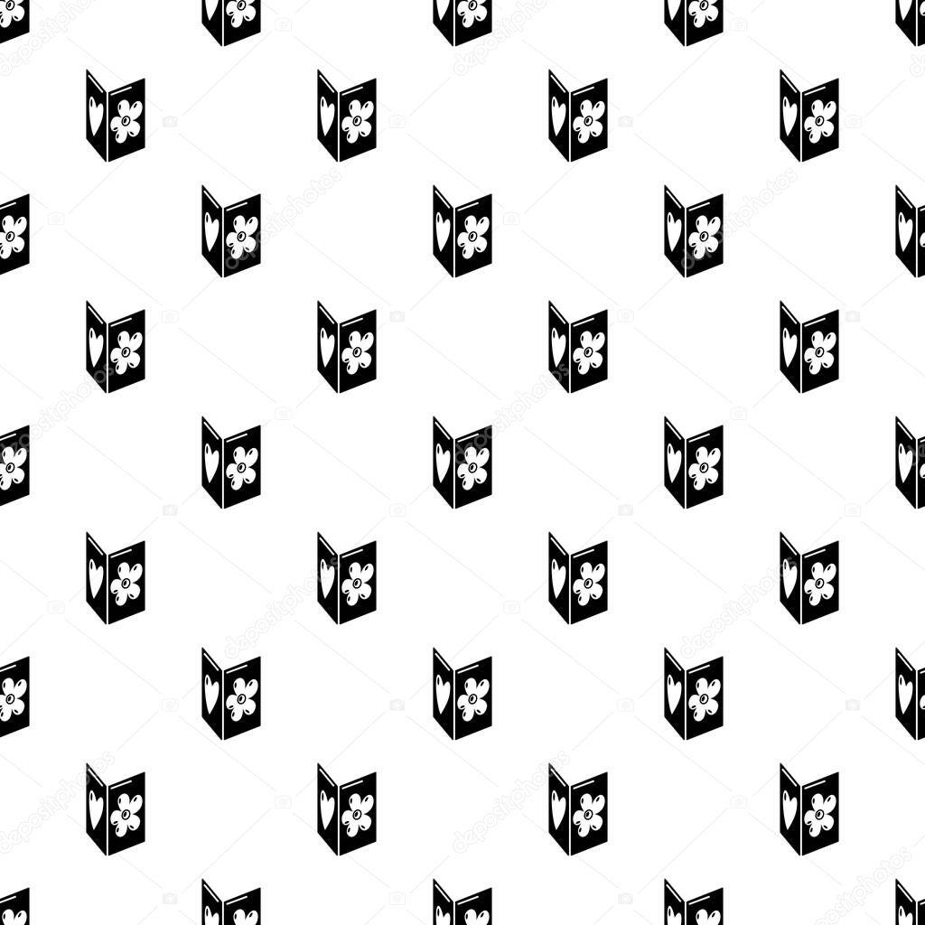 Postcard pattern vector seamless