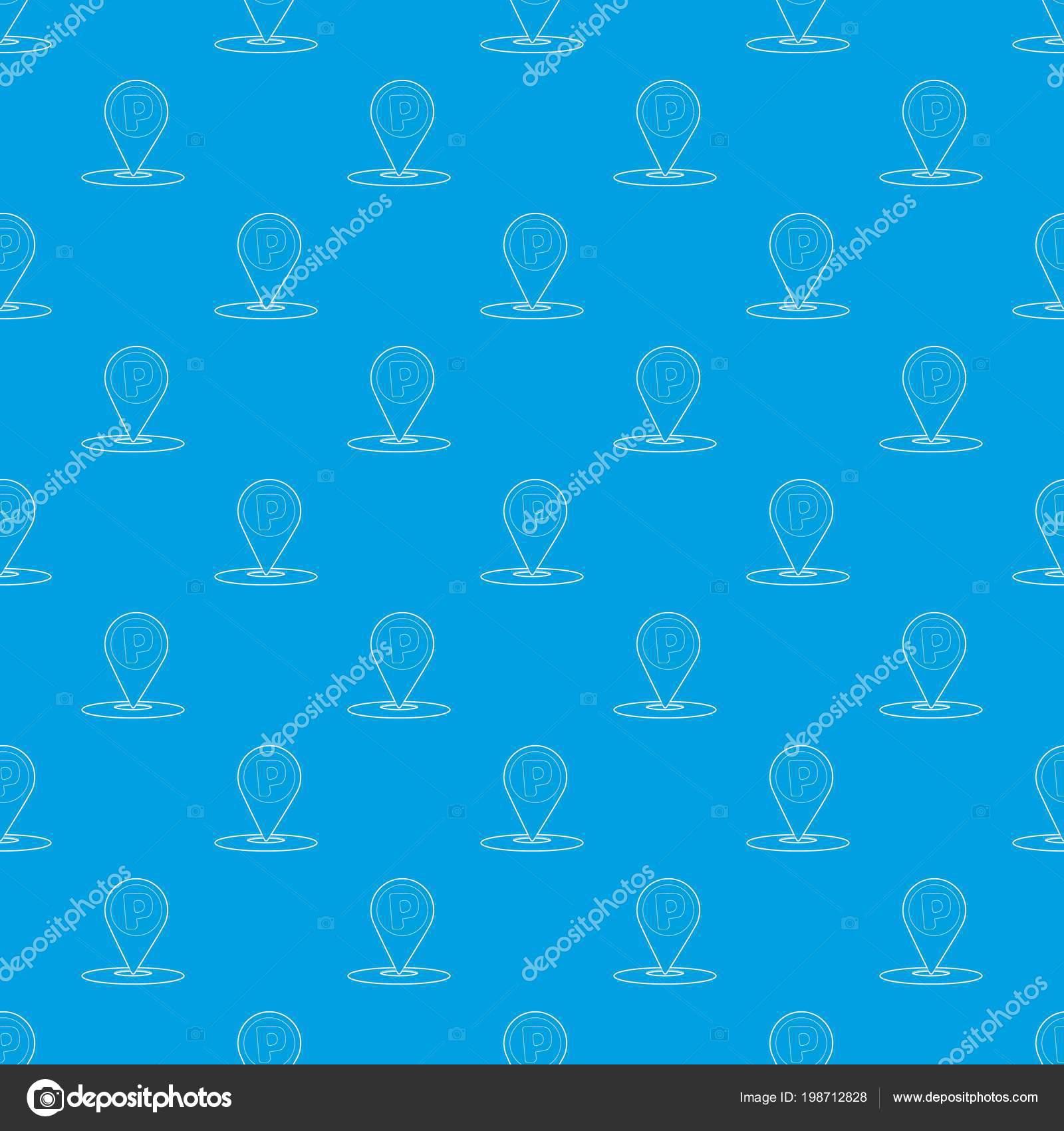 Carte Bleue Transparente.Pointeur De Carte Avec Voiture Parking Signe Modele Vecteur
