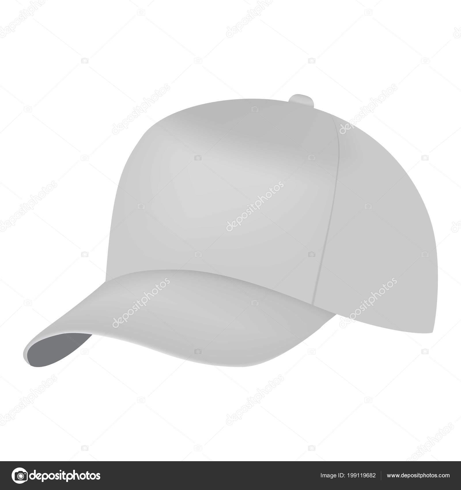 Tapa blanca lado vista maqueta. Ilustración realista de maqueta de vector  blanco tapa lateral Vista para web - mockup gorras — Vector de ylivdesign —  Vector ... ce2058a23b0