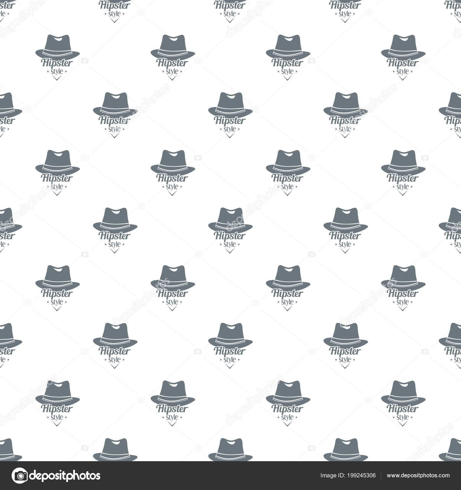 Vector de patrón de sombrero hipster sin costuras — Vector de stock ...