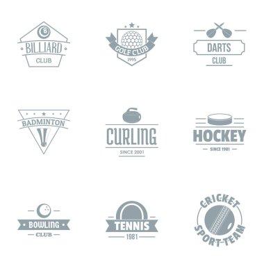 Table tennis logo set, simple style