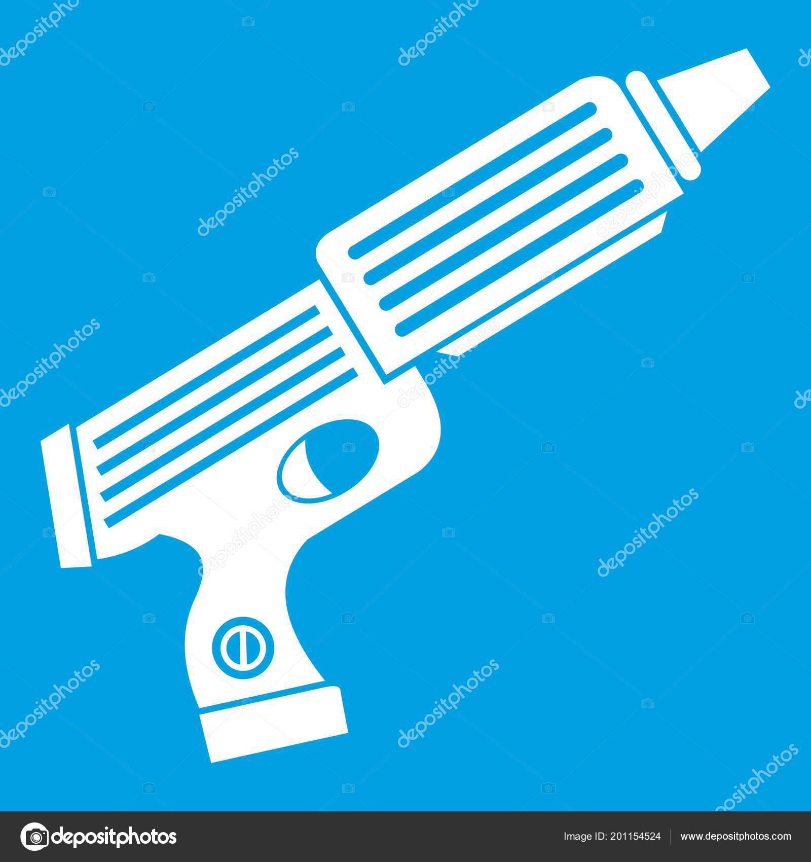 plastic gun toy icon white ストックベクター ylivdesign 201154524