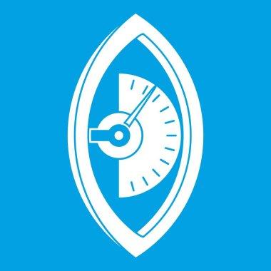 Hand power meter icon white