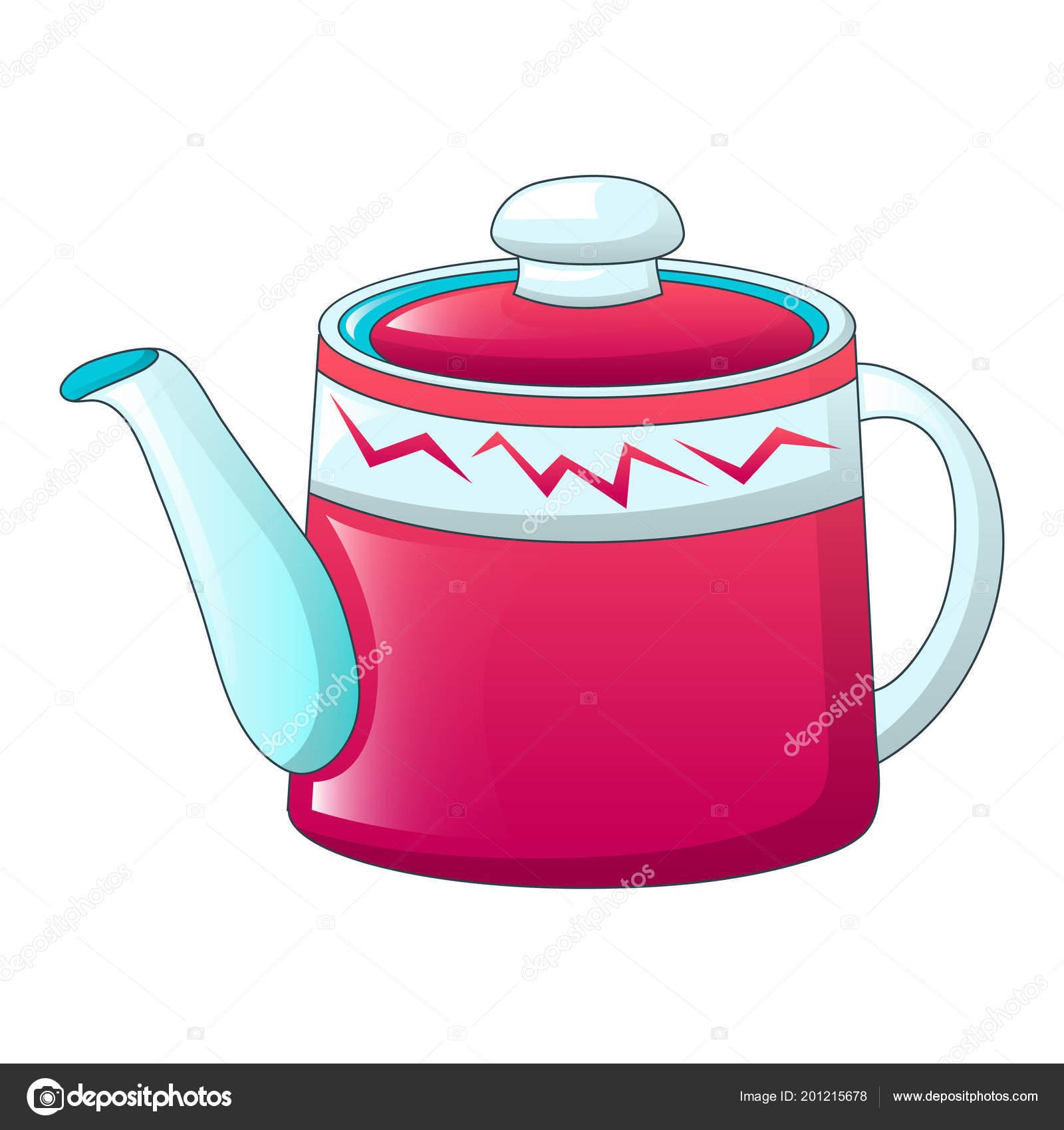 Red Tea Pot Icon Cartoon Style Stockvektor Ylivdesign 201215678