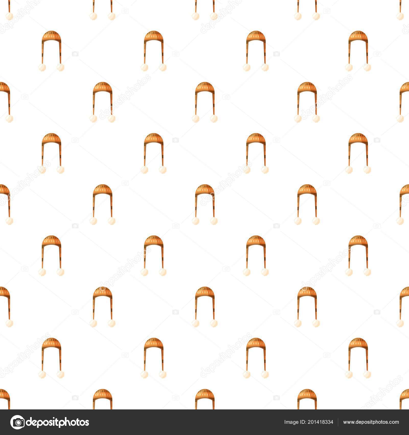 Sombrero con patrón de pompón — Vector de stock © ylivdesign #201418334