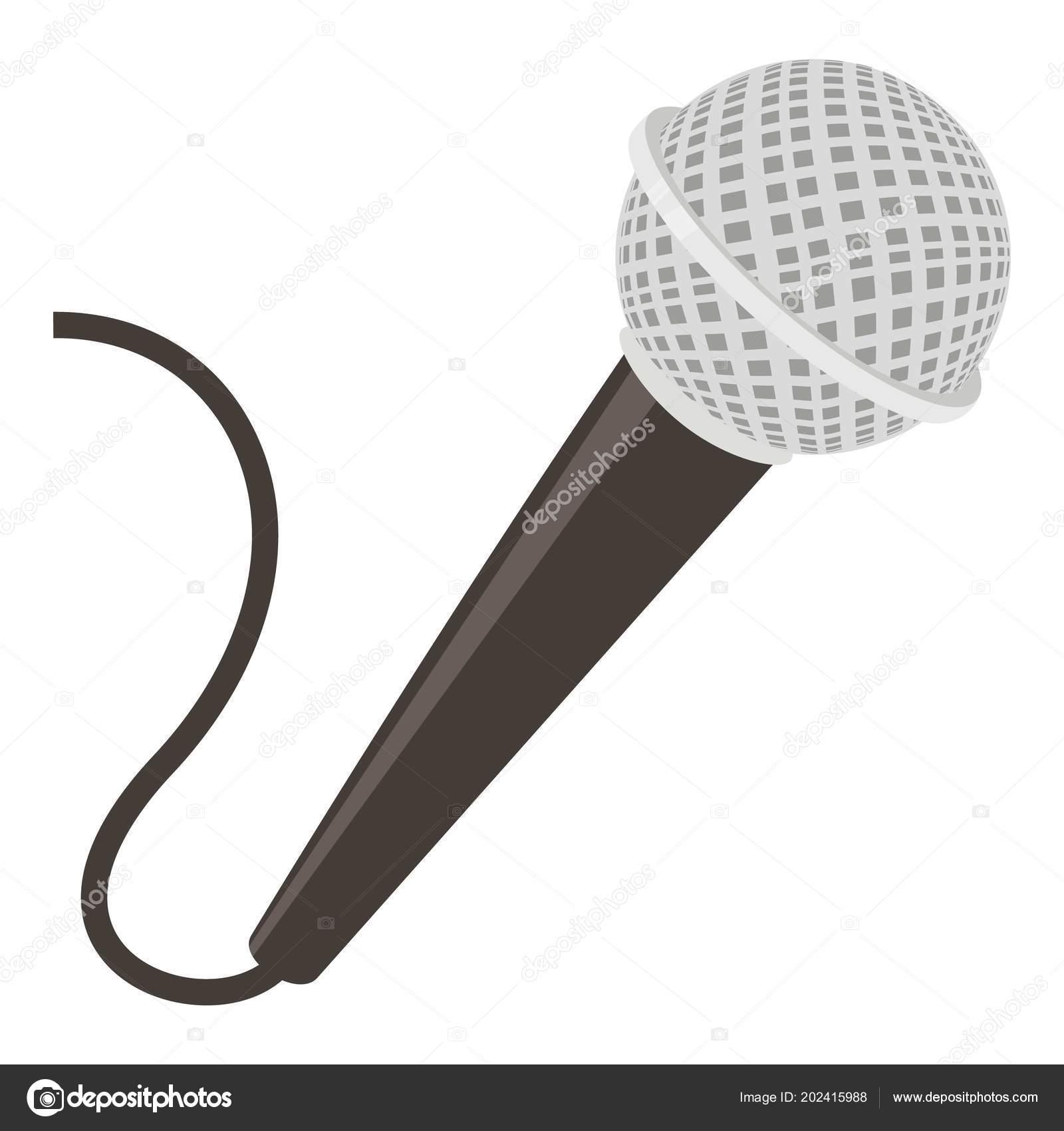 Dibujo De Un Microfono De Computadora Icono De Micrófono