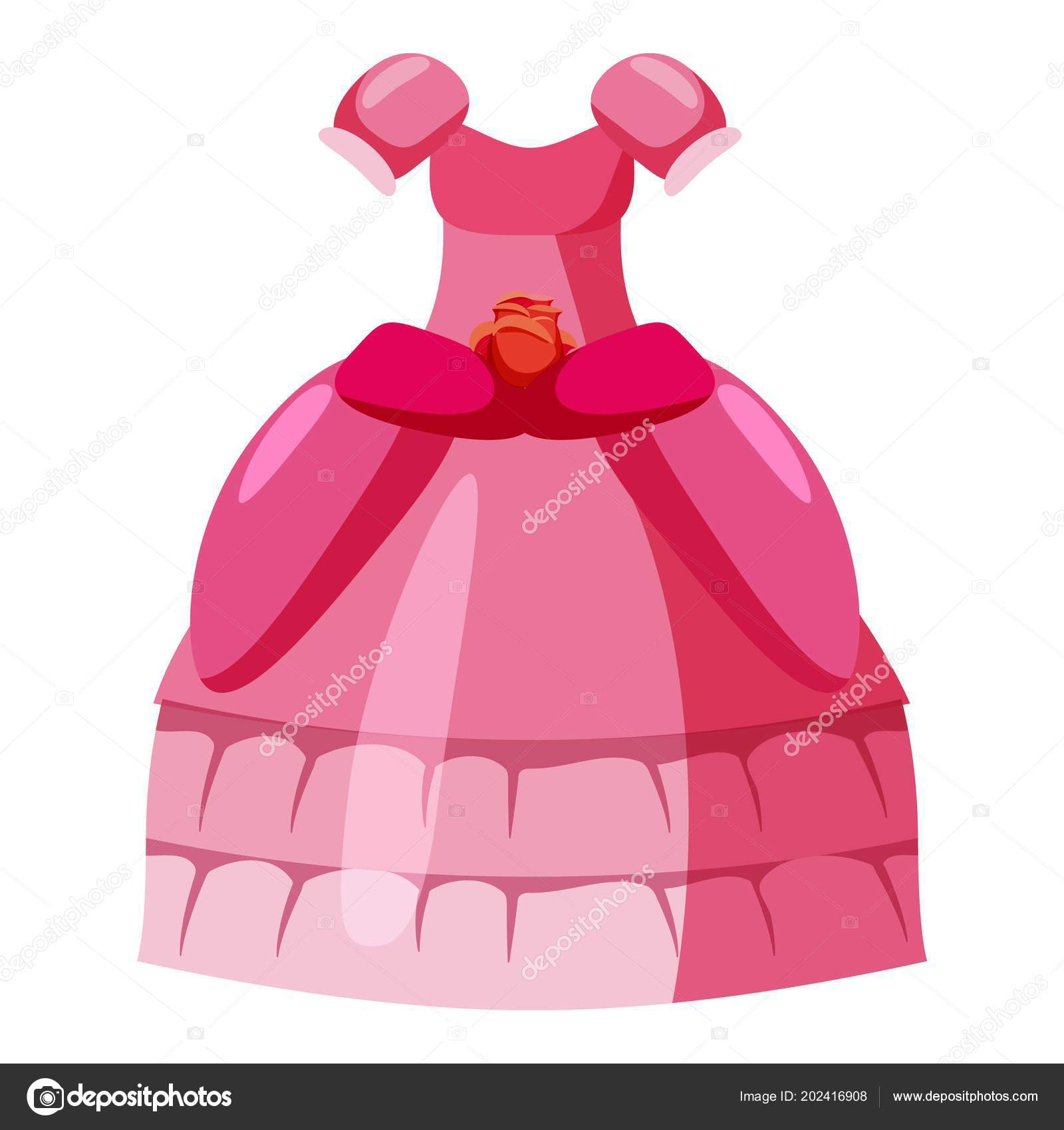 princess dress cartoon