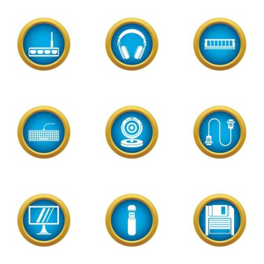 Time for change icons set, flat style
