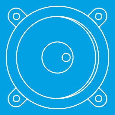 Sound speaker dynamic icon, outline style