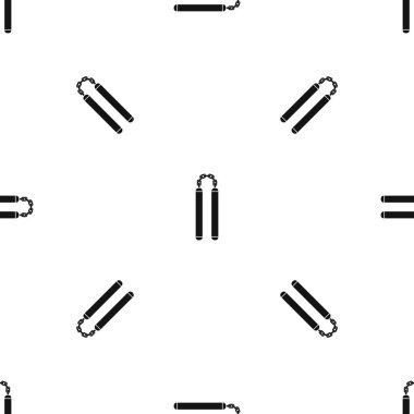Nunchaku pattern seamless black
