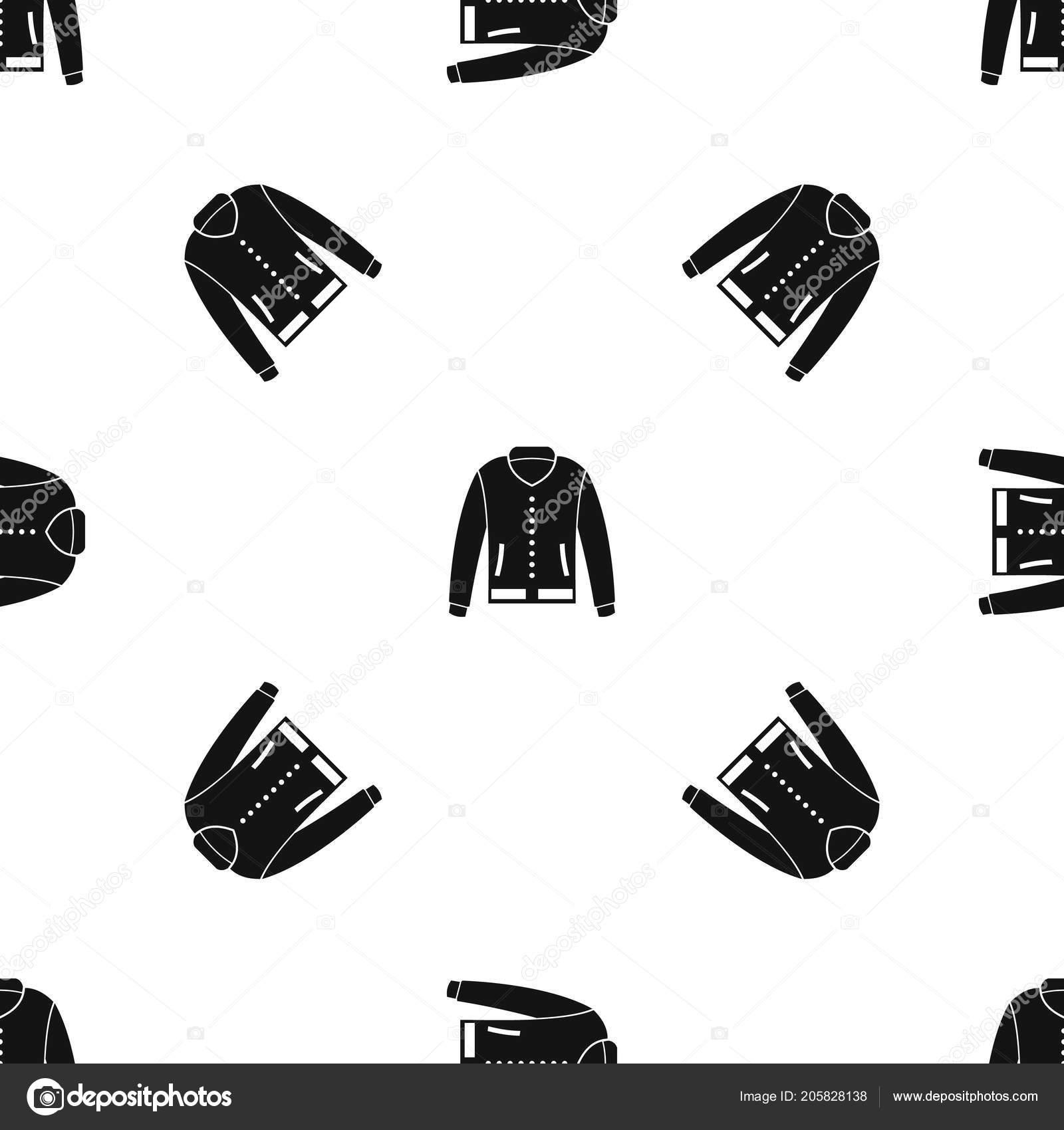 Chaqueta negra sin costura del patrón — Vector de stock © ylivdesign ...