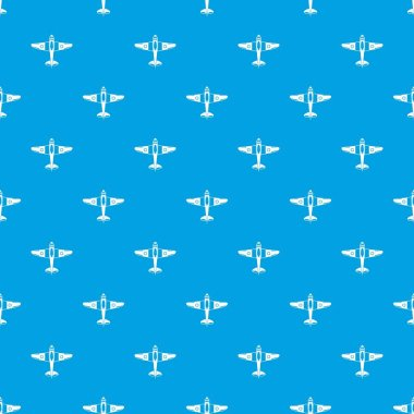 Military fighter plane pattern seamless blue