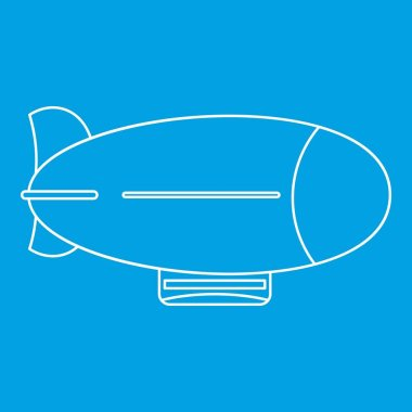 Vintage airship icon, outline style
