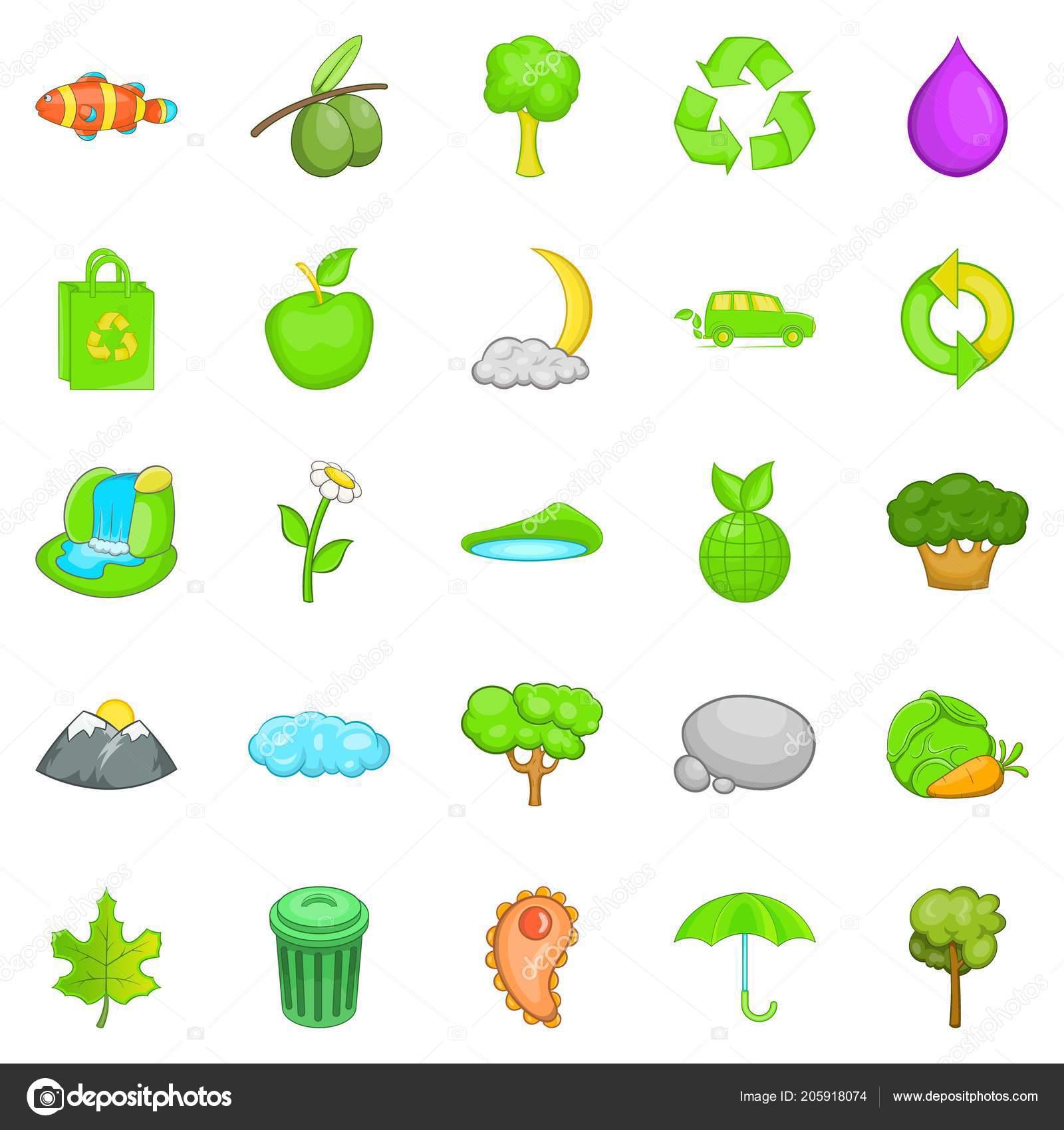 Contaminación Del Medio Ambiente Conjunto De Iconos Estilo De