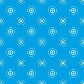 Fotografia Occhio modello ripetere senza cuciture in colore blu per tutto il disegno. Geometric illustrazione vettoriale