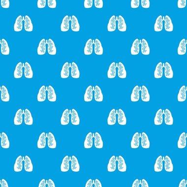 Lungs pattern seamless blue