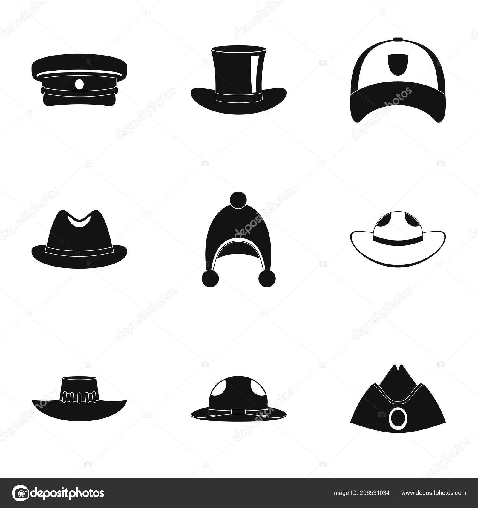 Modern hat icon set. Simple set of 9 modern hat vector icons for web  isolated on white background — Vector by ylivdesign. Find Similar Images d2c353fd27c5