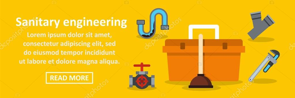 Sanitary engineering banner horizontal concept