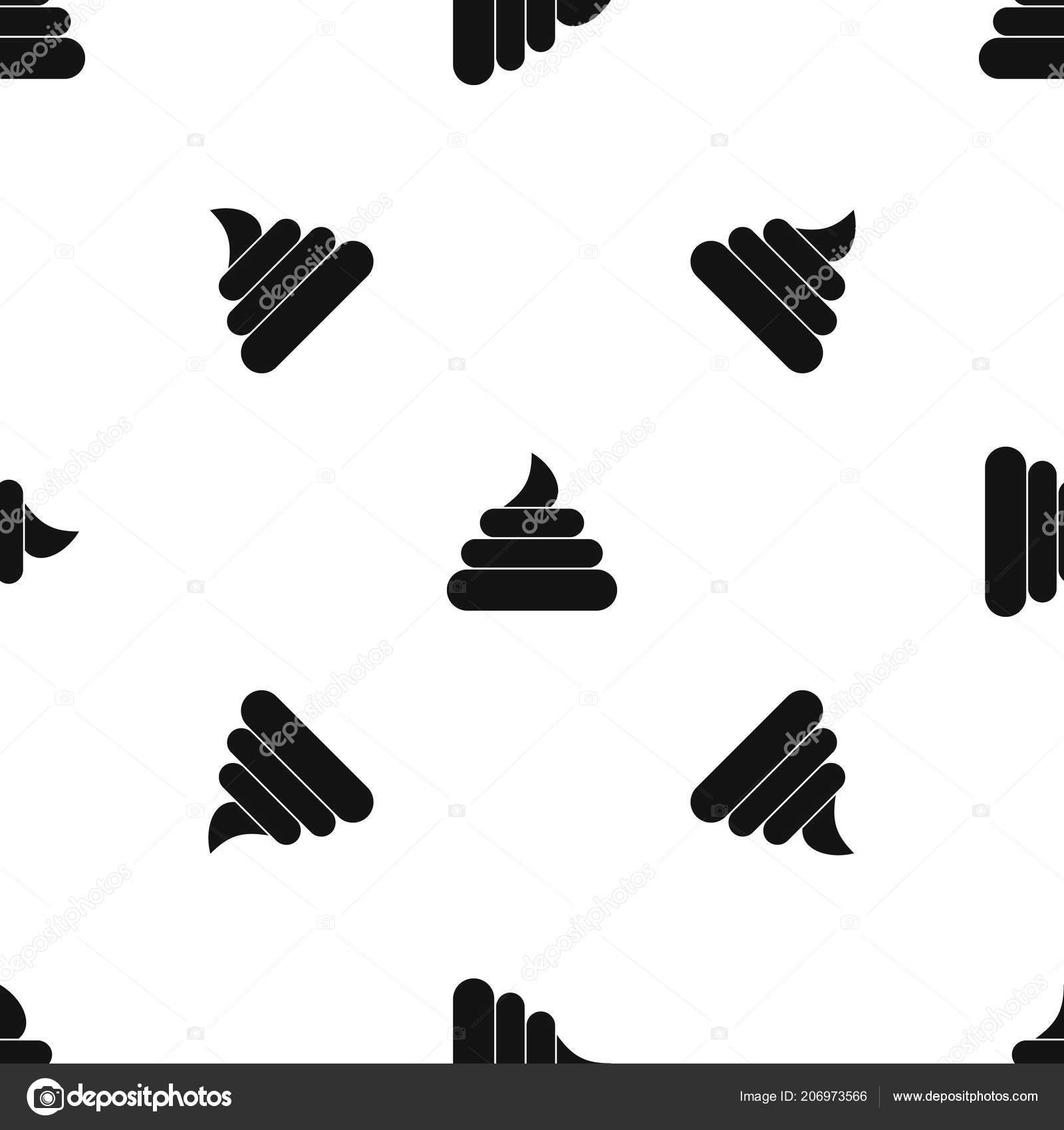Stuhlgang Muster Nahtlos Schwarz Stockvektor Ylivdesign 206973566