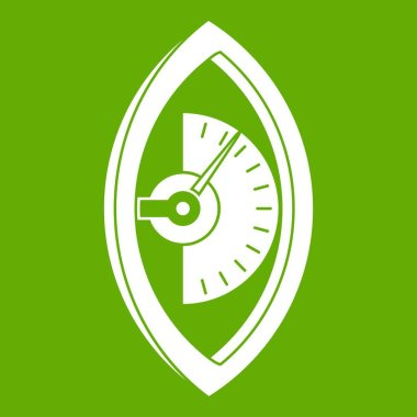 Hand power meter icon green