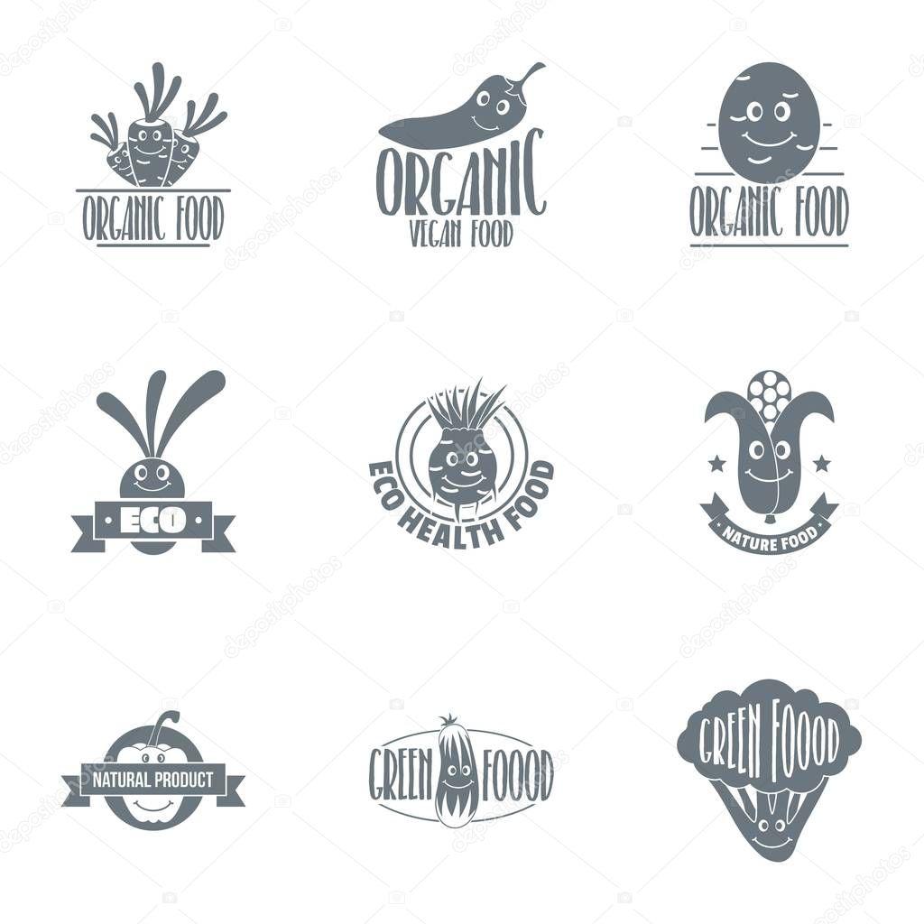 Agroecological logo set, simple style