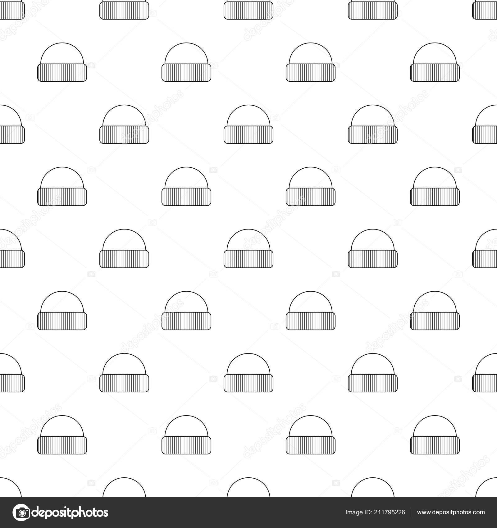 Icono del sombrero, estilo de contorno — Vector de stock ...