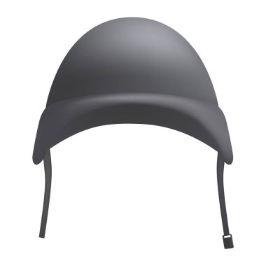 Grey helmet mockup, realistic style