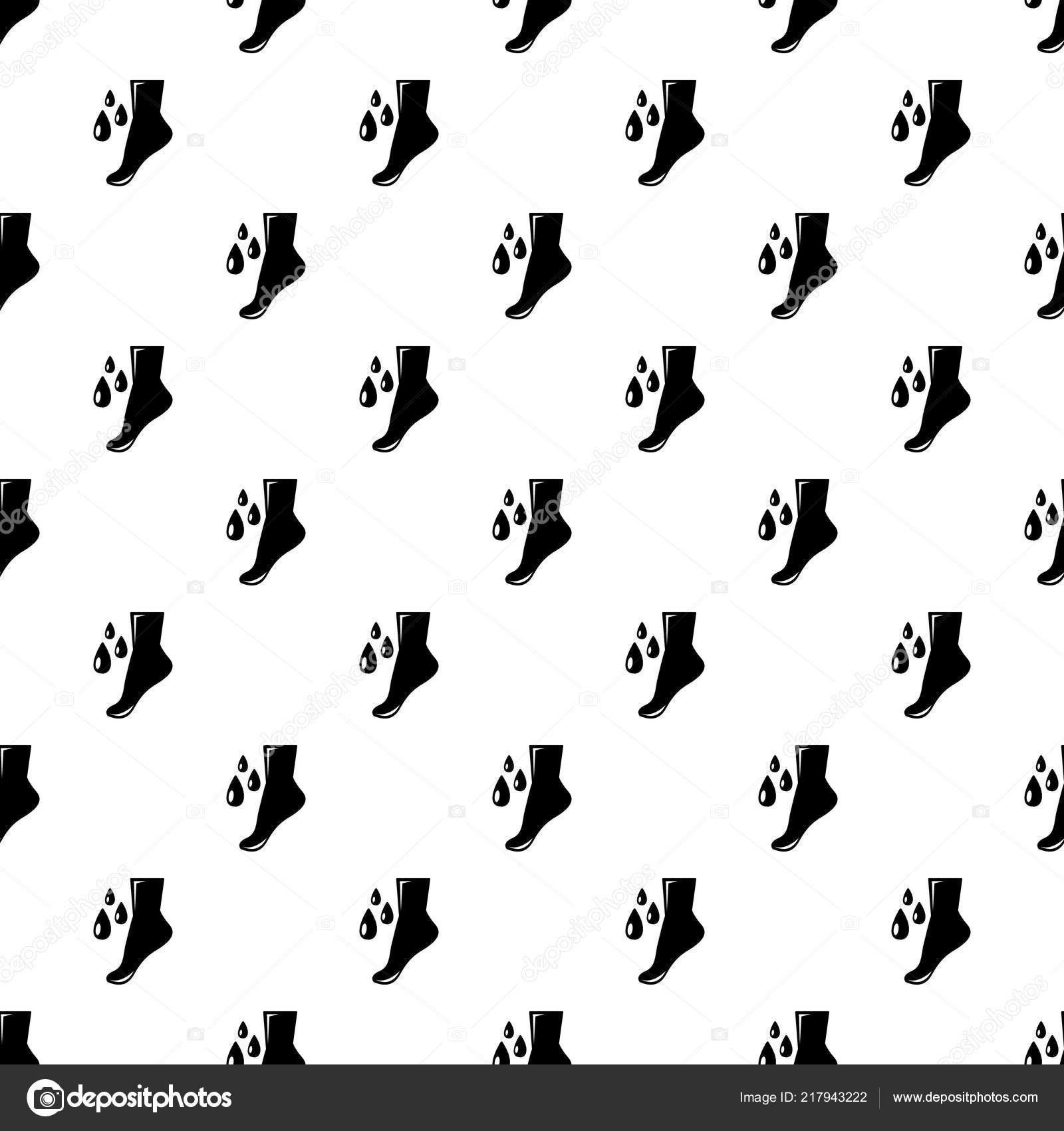Vector de patrón de cuidado pie sin costura — Vector de stock ...