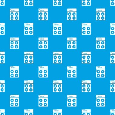 Speaker box pattern vector seamless blue