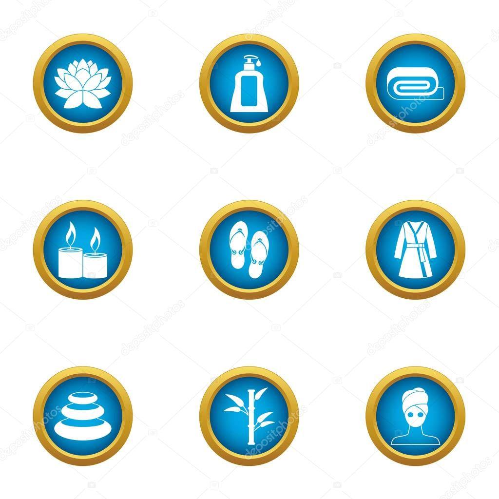 Loosen icons set, flat style