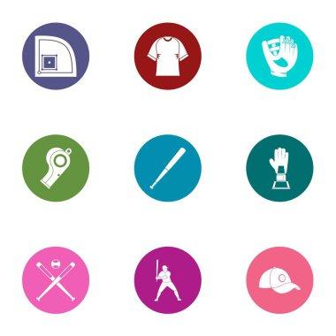 Frolic icons set, flat style