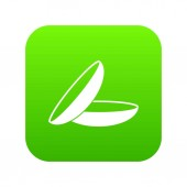 Fotografia Verde digitale icona di lenti a contatto