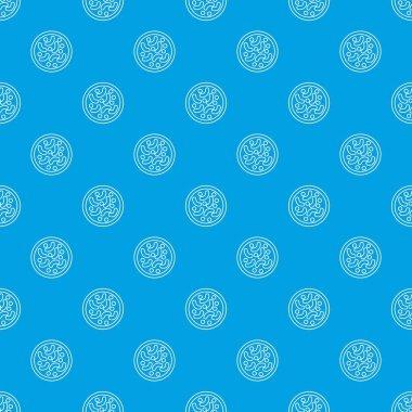 Microscopic bacteria pattern vector seamless blue