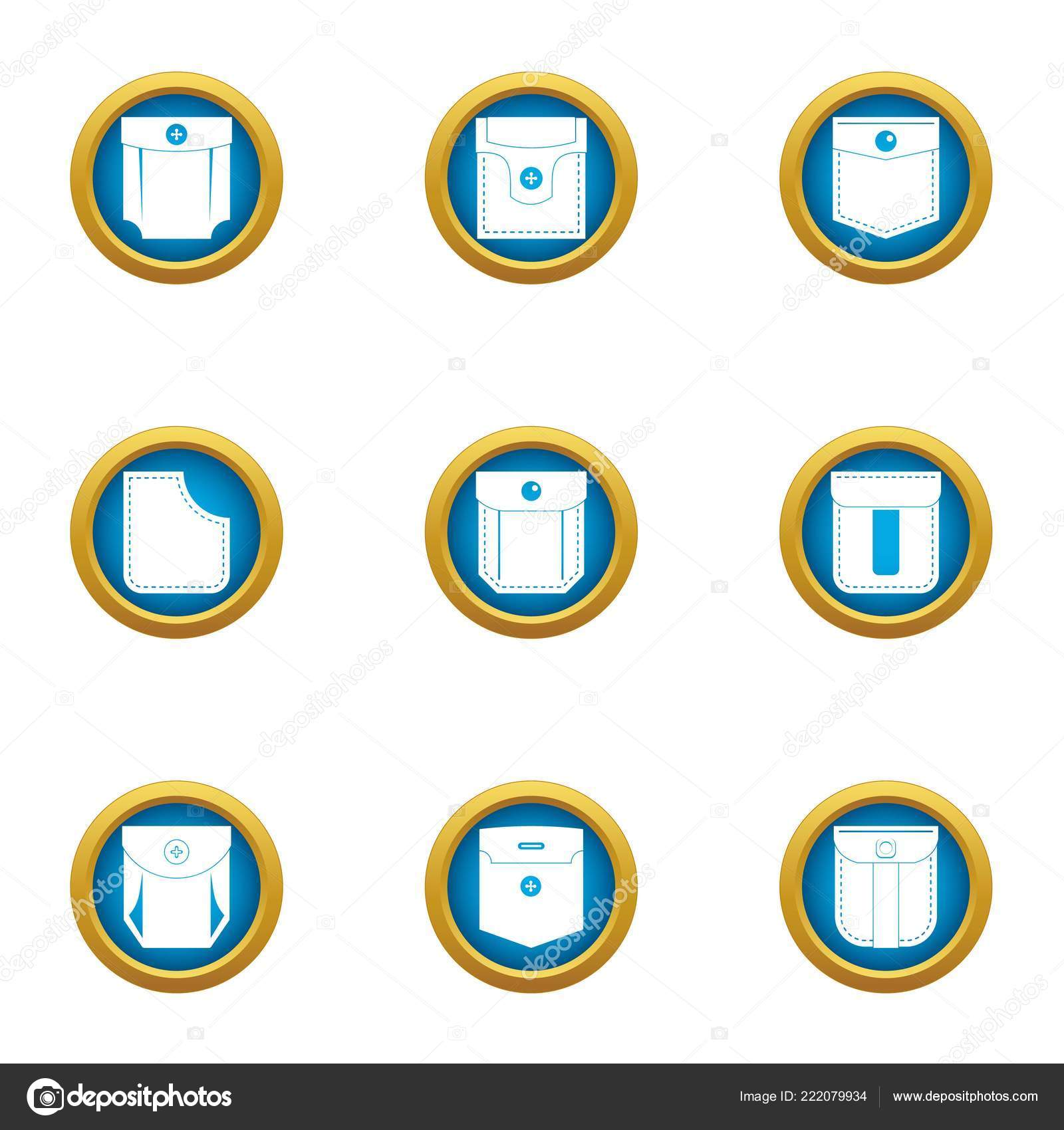 Closed Pocket Icons Set Flat Vector Stock Electrical Symbol Icon Isolated On A White Background Of 9 For Web By Ylivdesign