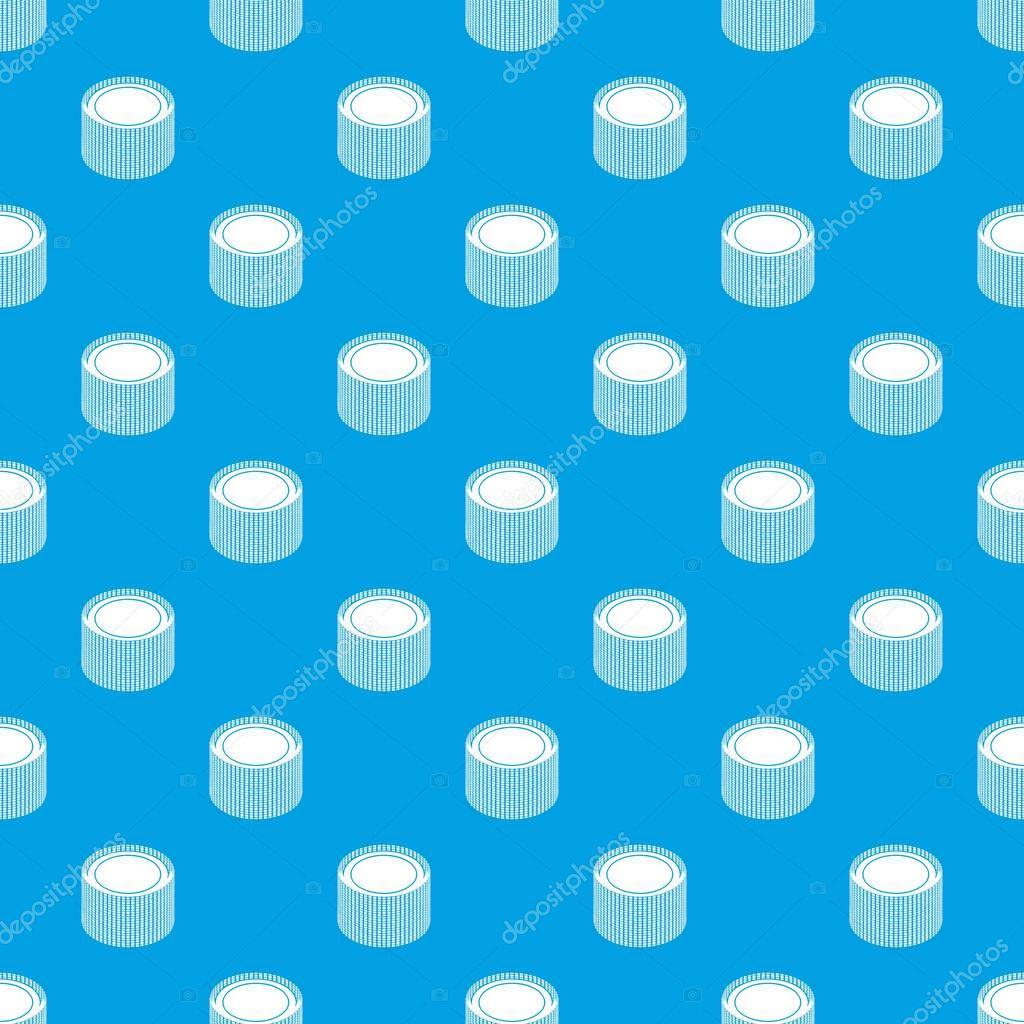 Building roll net pattern vector seamless blue