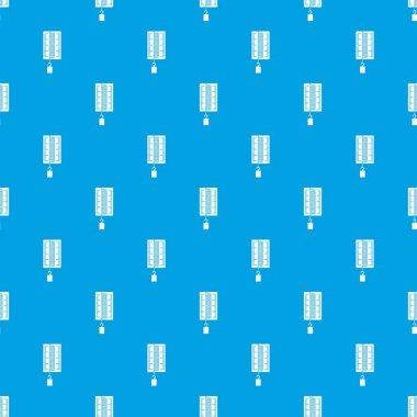 Physics dynamometer for laboratory work pattern seamless blue