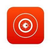 Fotografia Occhio rosso digitale di icona