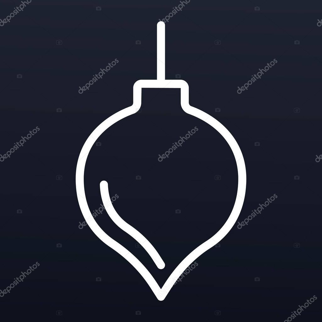 Christmas tree toy icon, outline style