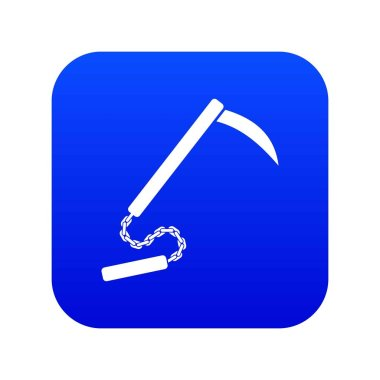 Kusarigama icon digital blue