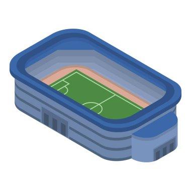 Soccer stadium icon, isometric style