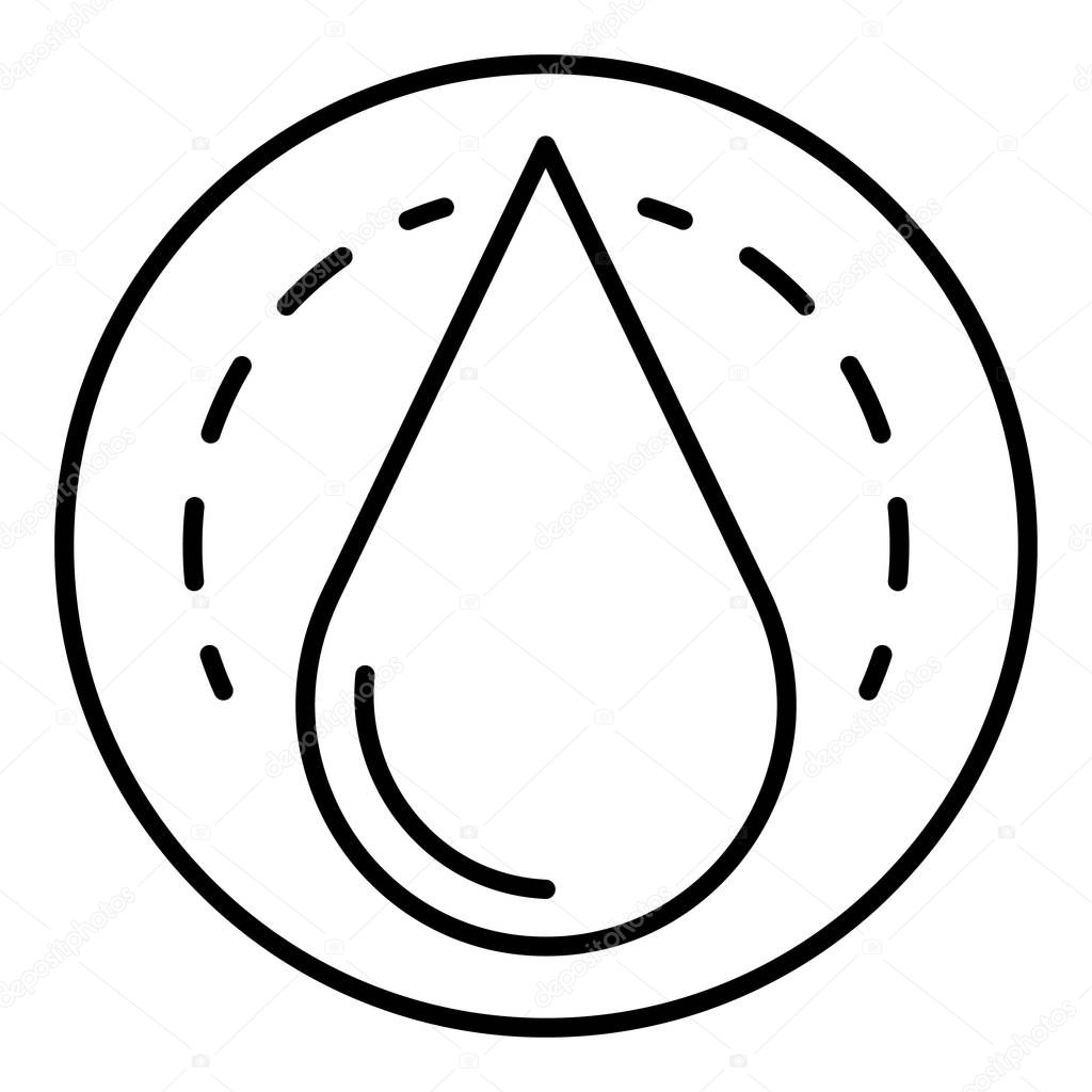Oil drop icon, outline style