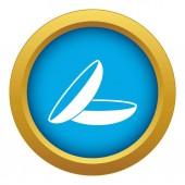 Fotografia Lenti a contatto blu icona vettoriale isolato