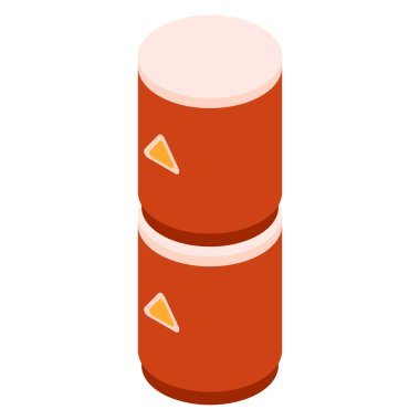 Fuel gasoline balloon icon, isometric style