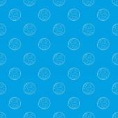 Fotografia Occhio modello vettoriale senza cuciture blu