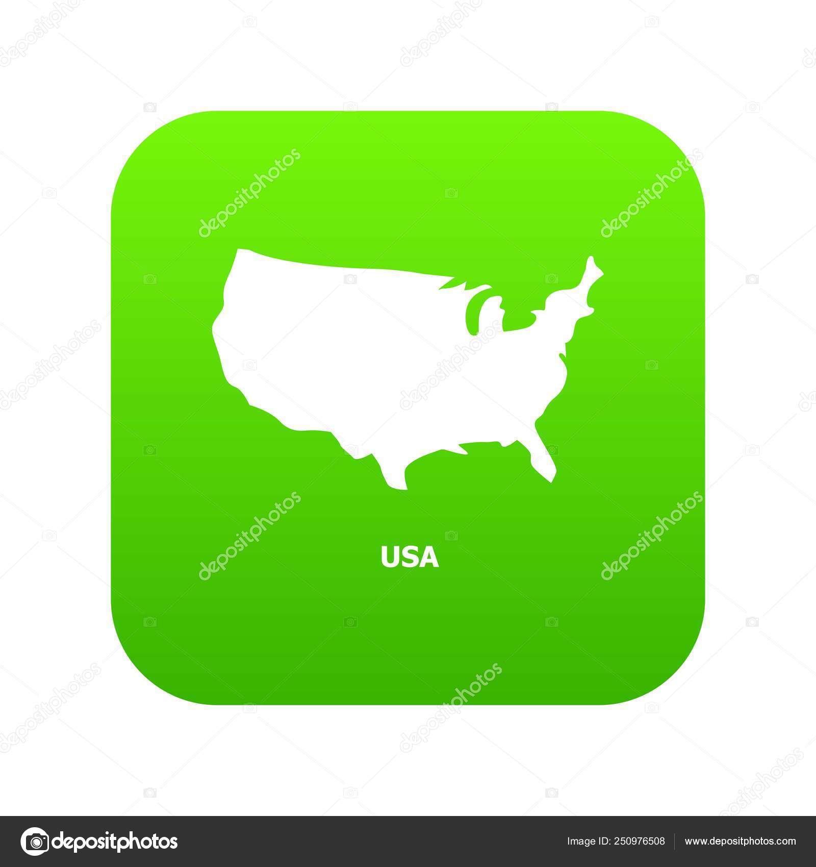 Usa Map Icon Simple Style Stock Vector Ylivdesign