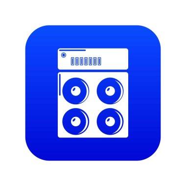 Speaker box icon blue vector