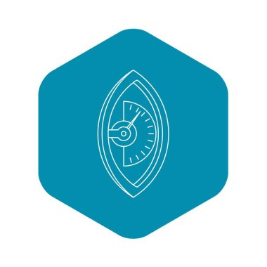 Hand dynamometer icon, outline style