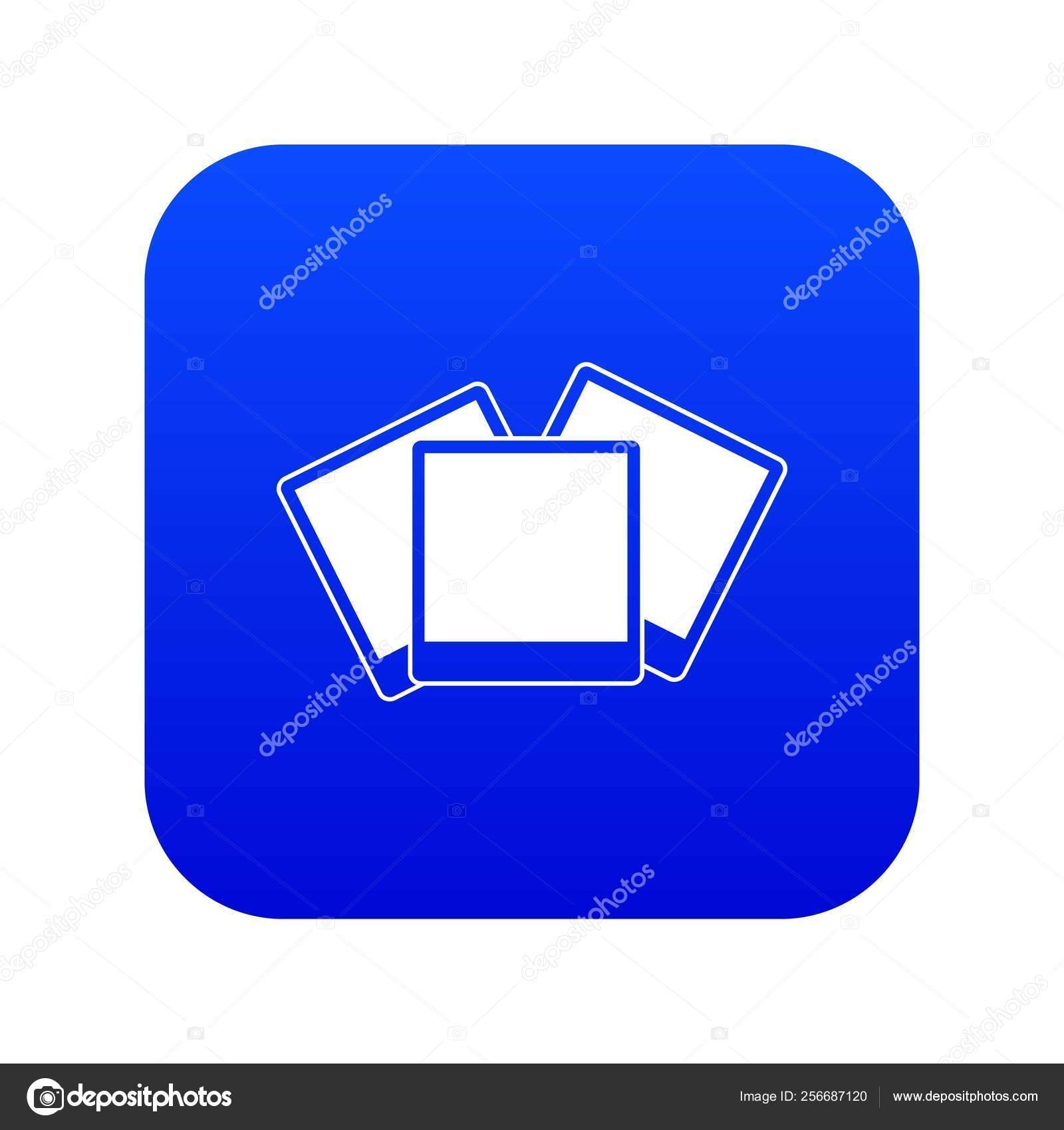 Tarjetas De Invitación De Boda Icono Digital Azul Vector
